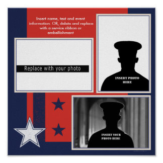 Patriotic Military Theme Photo Collage Poster