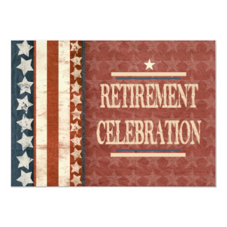Patriotic Military Veteran Retirement Celebration Card