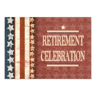 Patriotic Military Veteran Retirement Celebration 13 Cm X 18 Cm Invitation Card