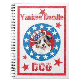 Patriotic Miniature American Shepherd Note Book