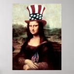 Patriotic Mona Lisa Print