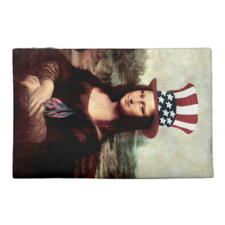 Patriotic Mona Lisa - Ready for Independence Day Travel Accessories Bags