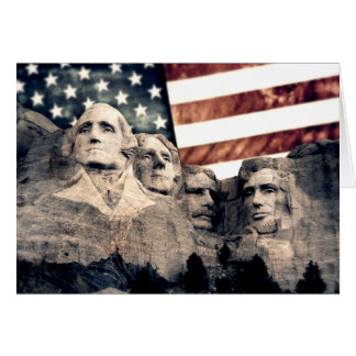 Patriotic Mount Rushmore Card