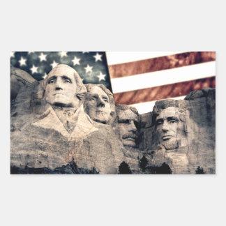 Patriotic Mount Rushmore Rectangular Sticker