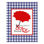 Patriotic Neutral Baby Shower - Red White & Blue Custom Announcements