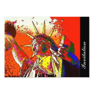 Patriotic New York City abstract statue of liberty Card