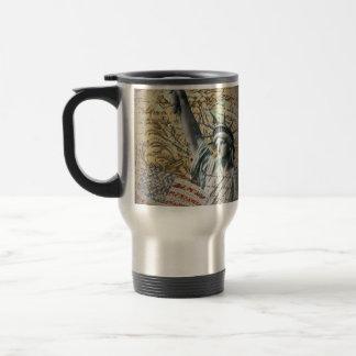 Patriotic NewYork Statue of Liberty vintage Travel Mug
