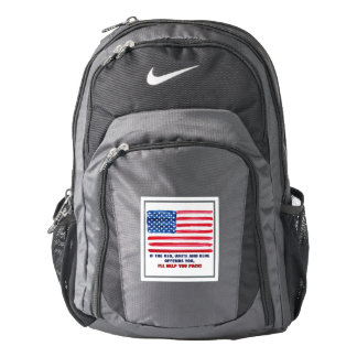 Patriotic Nike Backpack If American Flag Offends