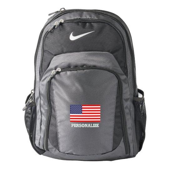 Patriotic Nike backpack with American flag