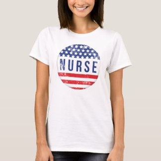 PATRIOTIC NURSE USA FLAG 2 T-Shirt