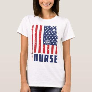 PATRIOTIC NURSE USA FLAG TEE SHIRT