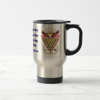 Patriotic or Veteran add PhotoView Artist Comments Stainless Steel Travel Mug
