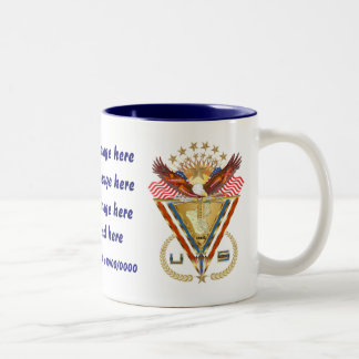 Patriotic or Veteran add PhotoView Artist Comments Two-Tone Mug