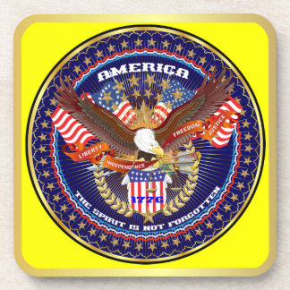 Patriotic or Veteran View Artist Comments Drink Coasters