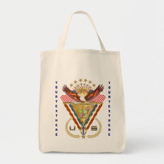 Patriotic or Veteran View Artist Comments Grocery Tote Bag