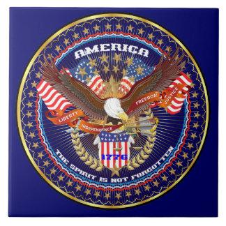 Patriotic or Veteran View Artist Comments Large Square Tile