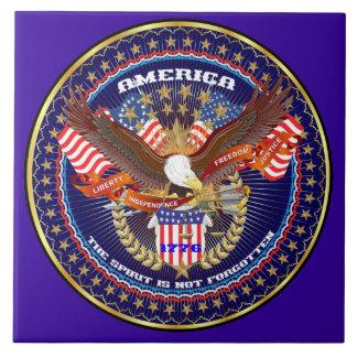 Patriotic or Veteran View Artist Comments Ceramic Tile