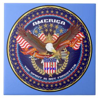 Patriotic or Veteran View Artist Comments Ceramic Tiles