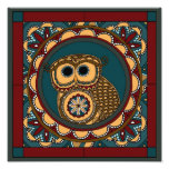 Patriotic Owl Mandala