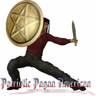 Patriotic Pagan American Standing Photo Sculpture