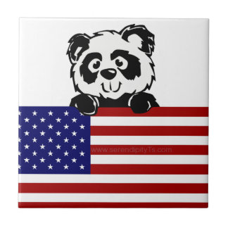 Patriotic Panda Tile