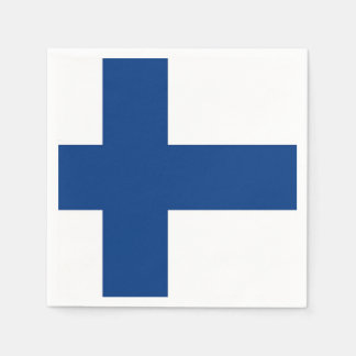 Patriotic paper napkins with Finland flag