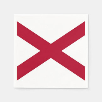 Patriotic paper napkins with flag of Alabama, USA Disposable Napkin