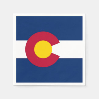 Patriotic paper napkins with flag of Colorado Disposable Napkin