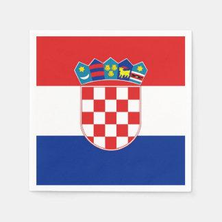 Patriotic paper napkins with flag of Croatia