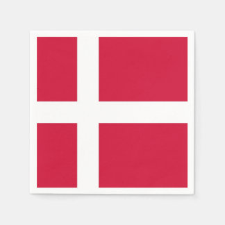 Patriotic paper napkins with flag of Denmark