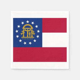 Patriotic paper napkins with flag of Georgia