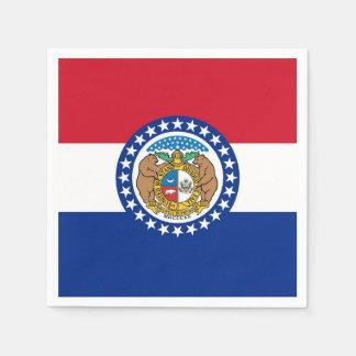 Patriotic paper napkins with flag of Missouri