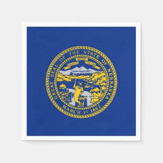 Patriotic paper napkins with flag of Nebraska