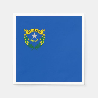 Patriotic paper napkins with flag of Nevada Disposable Serviette