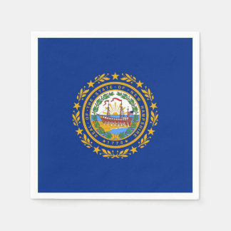 Patriotic paper napkins with flag of New Hampshire