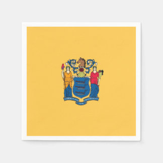 Patriotic paper napkins with flag of New Jersey