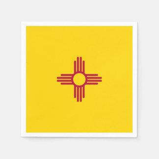 Patriotic paper napkins with flag of New Mexico Disposable Napkin