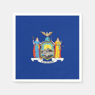 Patriotic paper napkins with flag of New York