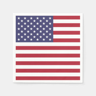 Patriotic paper napkins with flag of USA Disposable Napkin