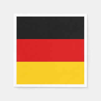 Patriotic paper napkins with Germany flag