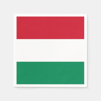 Patriotic paper napkins with Hungary flag