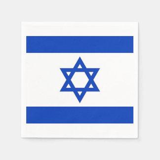 Patriotic paper napkins with Israel flag
