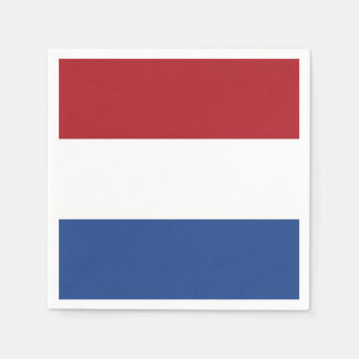 Patriotic paper napkins with Netherlands flag