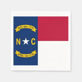 Patriotic paper napkins with North Carolina flag
