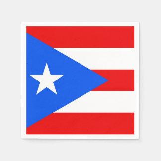 Patriotic paper napkins with Puerto Rico flag