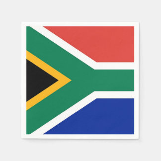 Patriotic paper napkins with South Africa flag