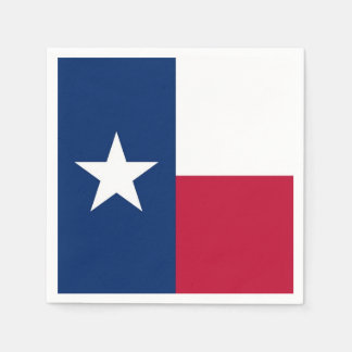 Patriotic paper napkins with Texas flag
