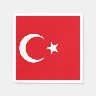 Patriotic paper napkins with Turkey flag