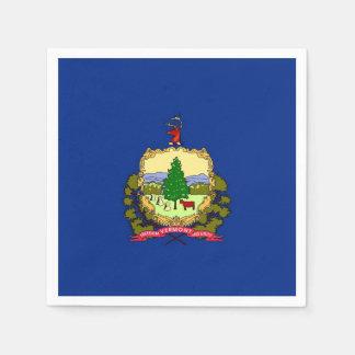 Patriotic paper napkins with Vermont flag
