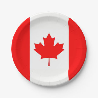 Patriotic paper plate with flag of Canada